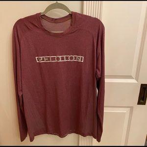 Peloton Lululemon Shirt Metal Vent Tech LS Mens